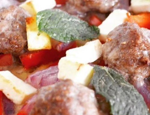 Healthy Lamb and Mint Pizza