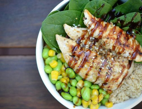 Chicken salad poke bowl