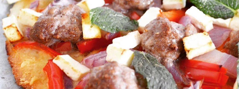 lamb and mint pizza