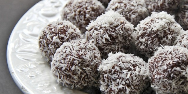 Chocolate banana bliss balls