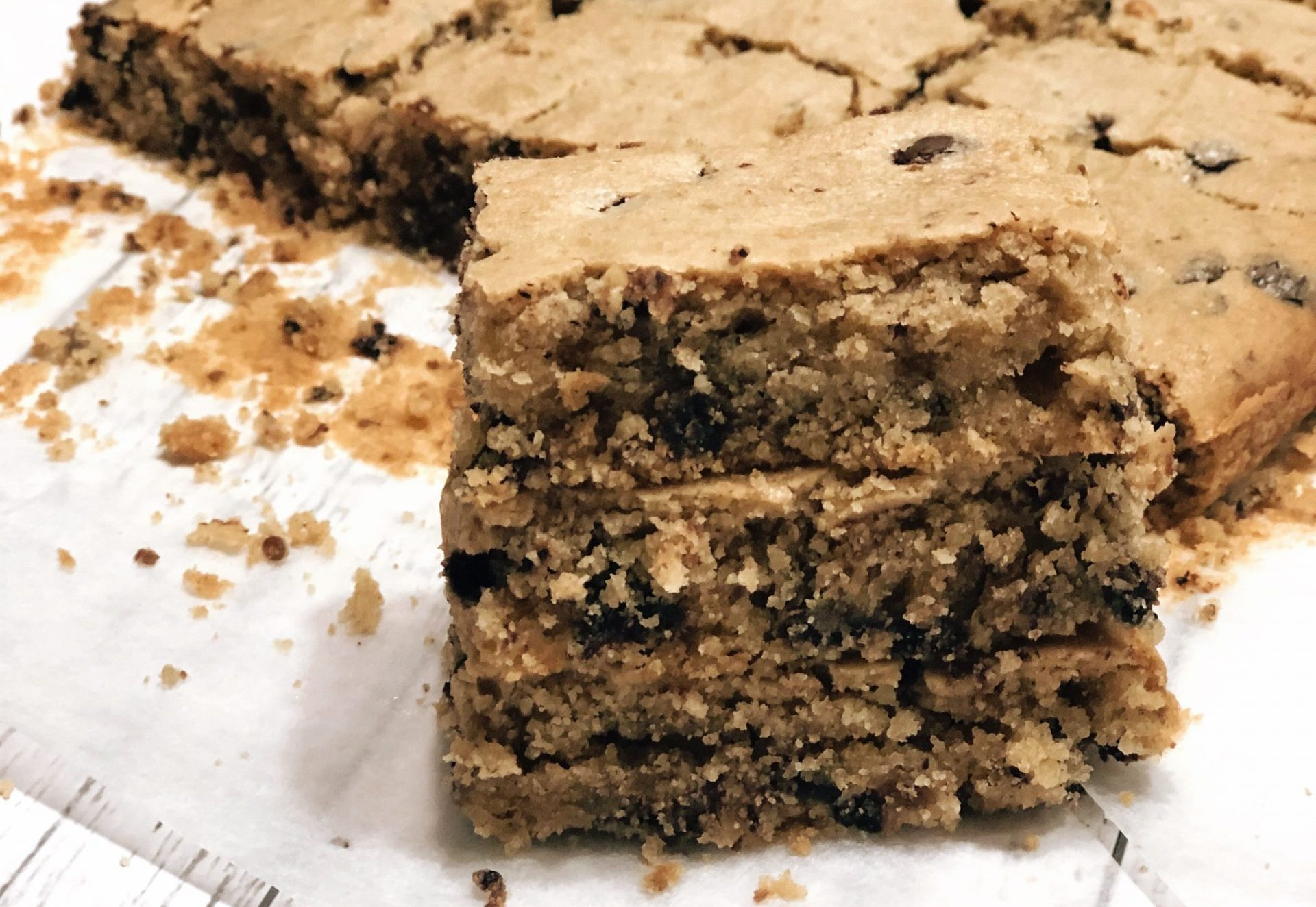 CHOC CHIP SHORTBREAD SLICE
