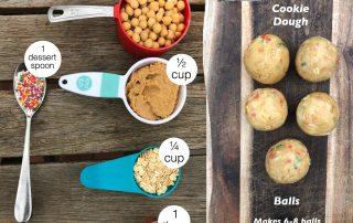 Sprinkel cookie dough balls